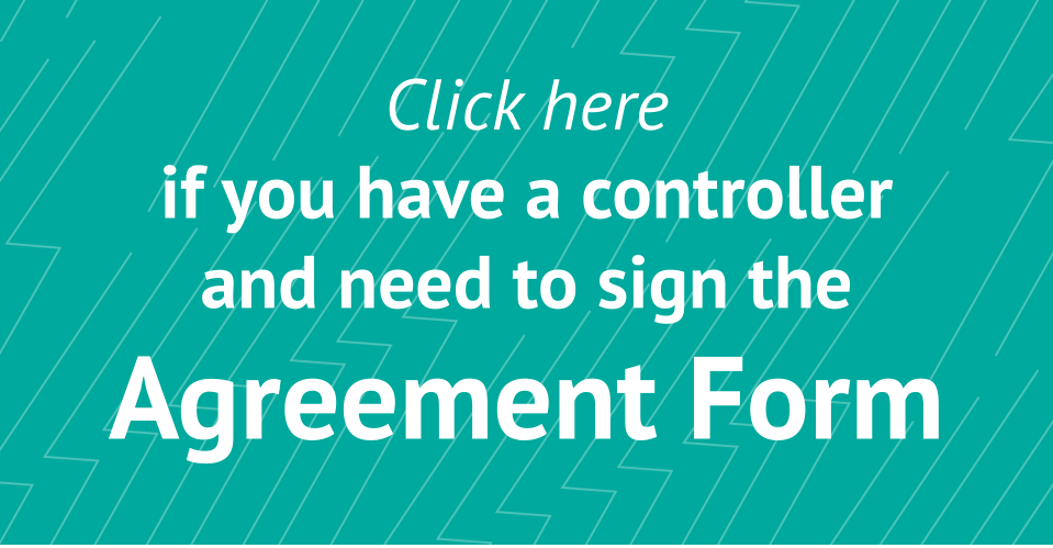 Click here if you have a controller and need to sign the Agreement Form