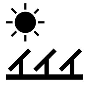 Solar Panel and Sun icon